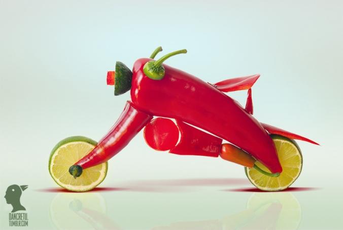 dan_cretu_arte_comida_escultura_coloridas_fotos_bici_pimientos