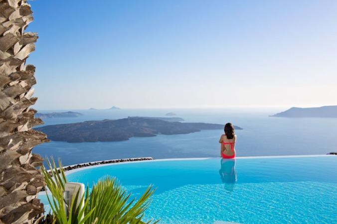 Fotos de las mejores piscinas del mundo - Alta Vista Suites, Santorini, Islas Griegas