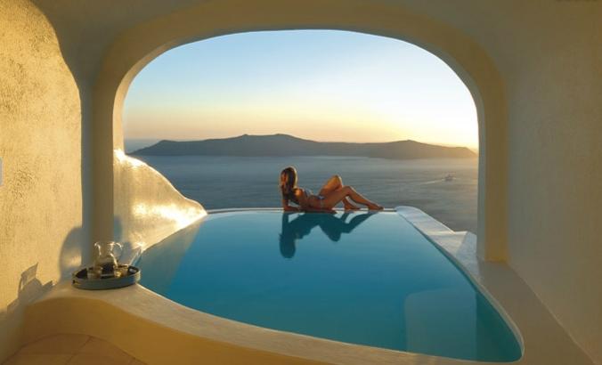 Fotos de las mejores piscinas del mundo - Santorini, Islas Griegas