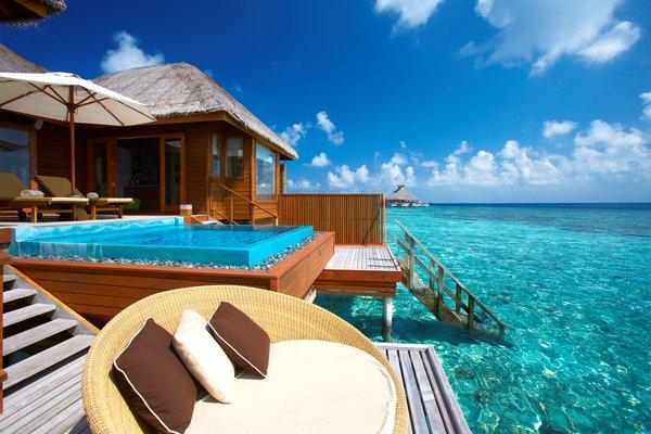 Fotos de las mejores piscinas del mundo - Huvafen Fush, Maldivas