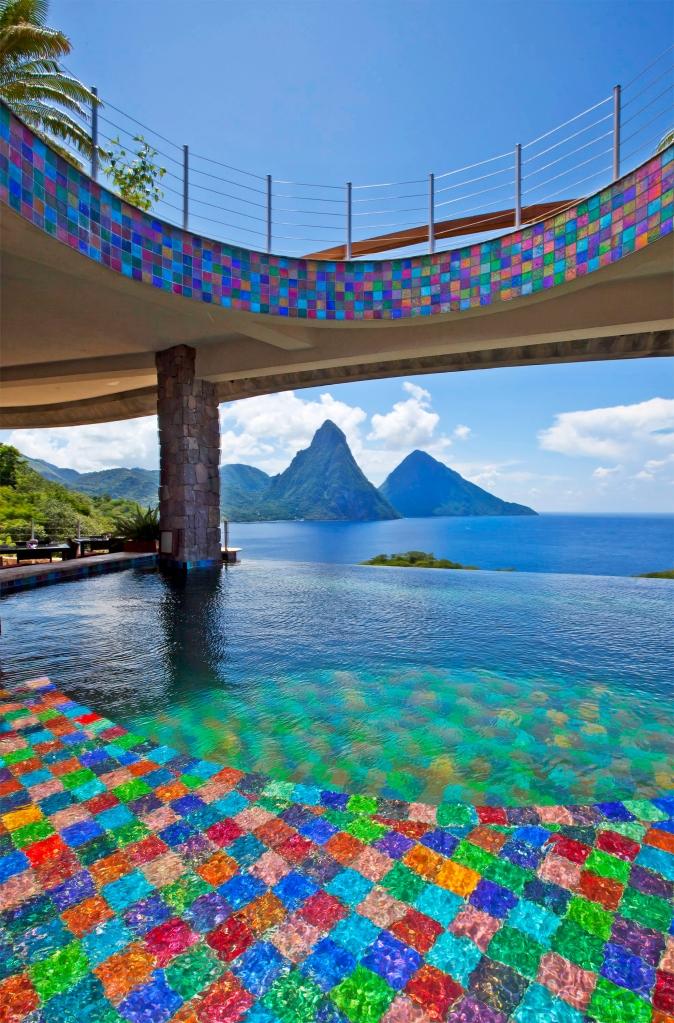 Fotos de las mejores piscinas del mundo - Jade Mountain, Santa Lucía