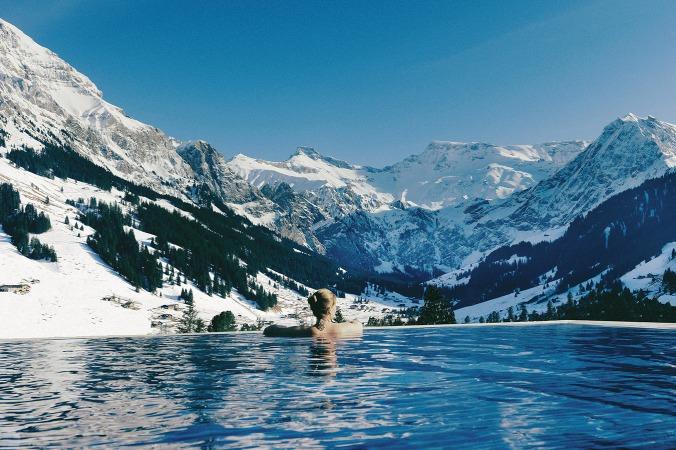 Fotos de las mejores piscinas del mundo - The Cambrian Adelboden Suiza