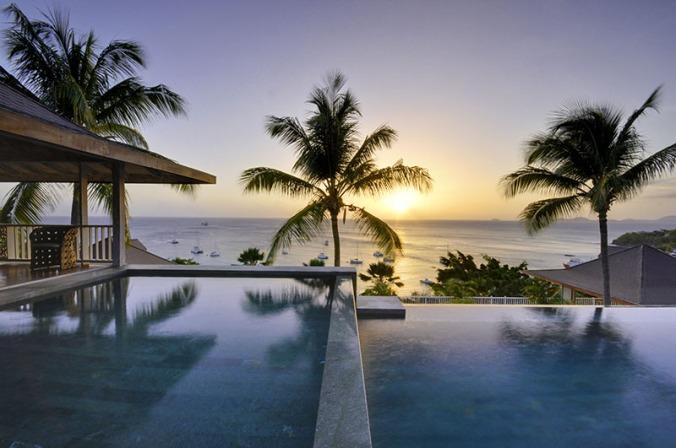 Fotos de las mejores piscinas del mundo - Mustique Island Caribe