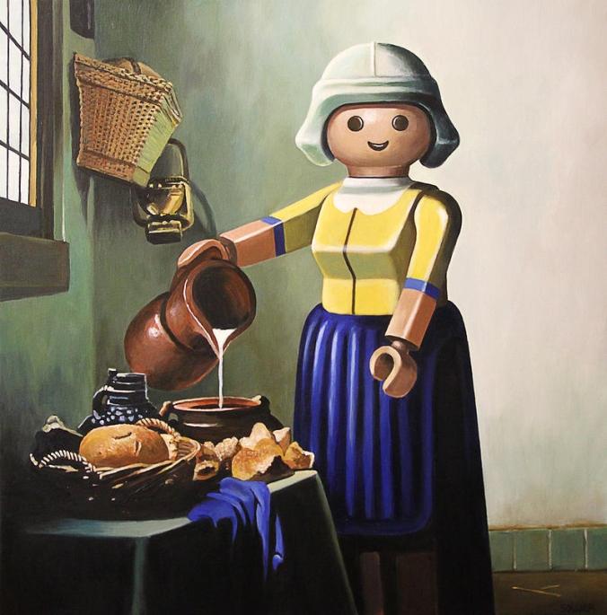 Cuadrs_playmobil_o_la_lechera_ Johannes_Vermeer
